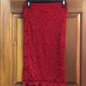 Forever 21 long red skirt